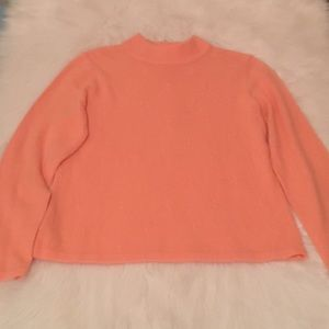 Salmon Turtleneck Sweater